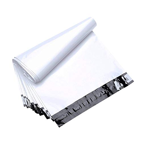 FU Global 200pcs 12x15.5 Poly Mailers Shipping Envelops Boutique Custom Bags Enhanced Durability Multipurpose Envelopes Keep Items Safe & Protected(White)