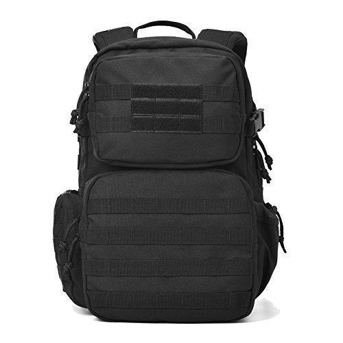 Military Tactical Backpack Army Assault Pack Molle Bug Out Bag Backpacks Rucksack for Outdoor Sport Travel Hiking Camping School Daypack Black by REEBOW TACTICAL