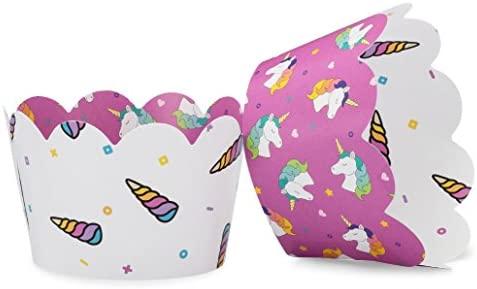 Unicornio Cupcake Wrappers para niñas fiesta de cumpleaños ...