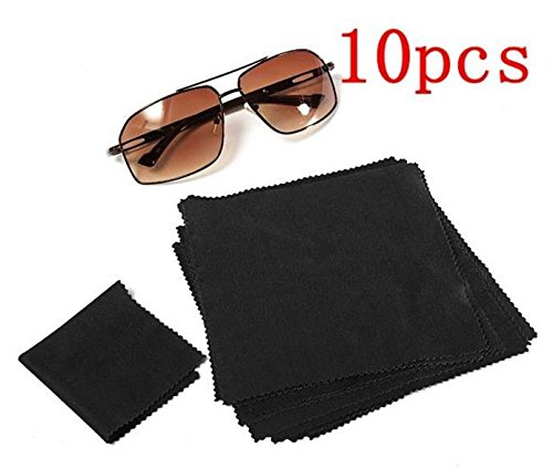 10pcs 15X15cm Eyeglasses Reading Glasses Cleaning Cloth Camera Phone Screen Cleaner by - Face For My Best Eyeglasses