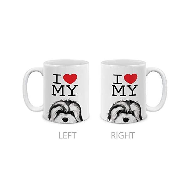 MUGBREW I Love My White Silver Havanese Dog Ceramic Coffee Gift Mug Tea Cup, 11 OZ 2
