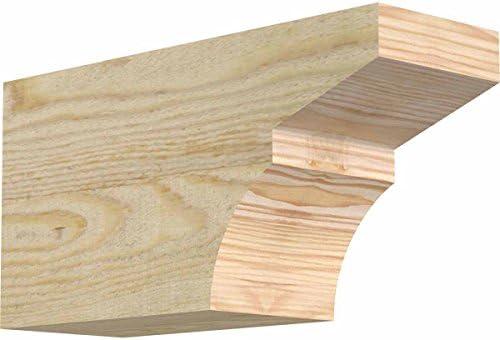 Rough Sawn 8 H 4W Douglas Fir Ekena Millwork RFT04X08X12DEL00RDF x 12 L Del Monte Rafter Tail