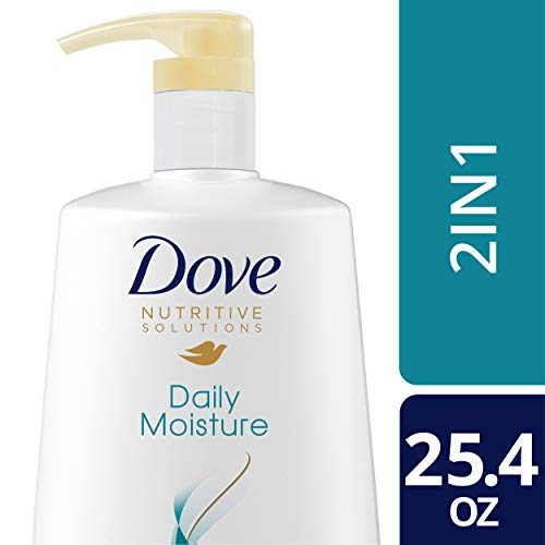 Dove Nutritive Solutions Daily Moisture 2 in 1 Shampoo & Conditioner with Pump 25.4 oz, 3 Count Dove Moisturizing Shampoo Conditioner