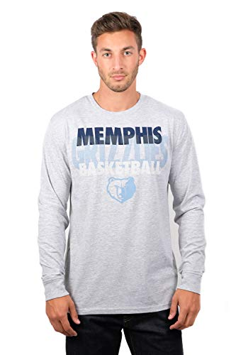 Ultra Game NBA Memphis Grizzlies Men's Supreme Long Sleeve Pullover Tee Shirt, Medium, Gray (Grizzlies Long Sleeve)