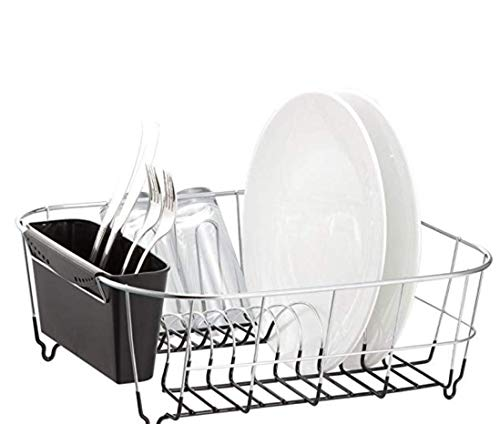 Neat-O Deluxe Chrome-plated Steel Small Dish Drainers (Black) ()