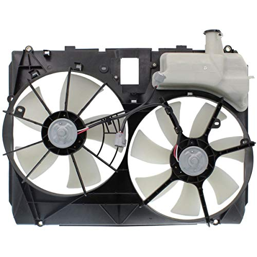 New Dual Radiator Fan Assembly For 2004-2005 Toyota Sienna Without Tow TO3115135 167110A210 - New Radiator Fan Assembly