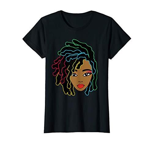 - Black Girl With Natural Locs Hair Pride T-shirt And Gitf