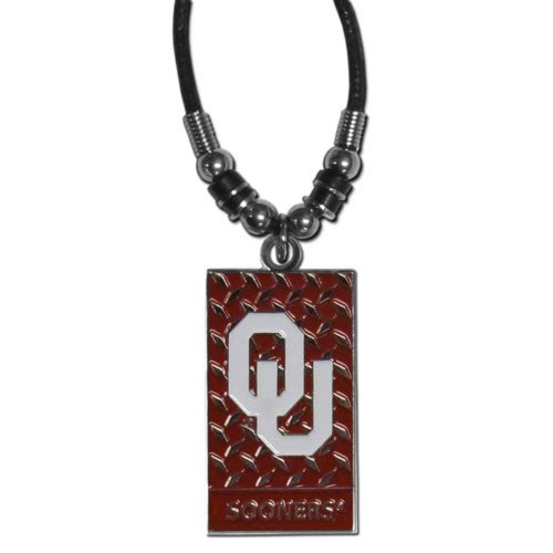 NCAA Oklahoma Sooners Diamond Plate Rope Necklace, 20-Inch