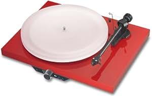 Pro-Ject Juke Box Esprit HiFi-Kompaktanlage con tocadiscos (pastilla Ortofon Alpha) rojo