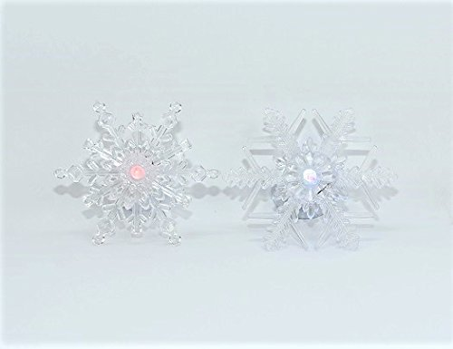 Set of 5 LED Color Light Changing Snowflake Window Clings