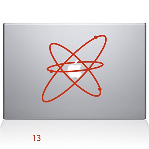 - Atom Removable Vinyl Decal Sticker Skin for Apple Macbook Pro 13 inch (New 2016 model) Laptop in Persimmon