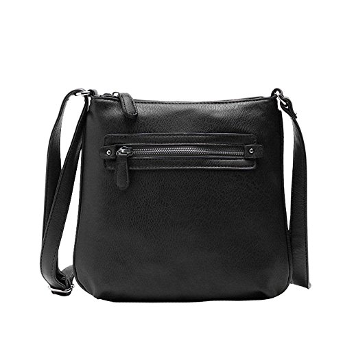 Black New Fashion Women Lady Messenger Bag Leather Crossbody Satchel Shoulder Handbag Sincere-handbag0031