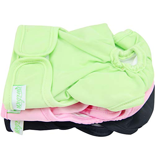 Wegreeco Luxury Washable Reusable Dog Diapers(New Pattern – Durable Female Dog Diapers, Stylish Doggie Diapers, 3 Pack (Vigorous, XX – Large)