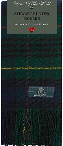 Stewart Hunting Modern Tartan (Stewart Hunting Modern Tartan Clan Scarf 100% Soft Lambswool)