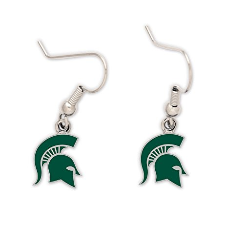 Michigan State Spartans Earrings - WinCraft NCAA Michigan State University Earrings Jewelry Card