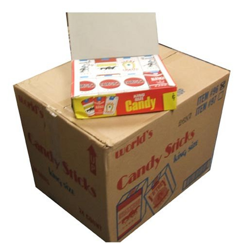 World Confections King Size Candy Cigarettes, 24 Count Box (Master Case of 24 Boxes)