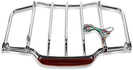 Gep/äcktr/äger mit LED f/ür Harley Road King Classic 14-19 Chrom