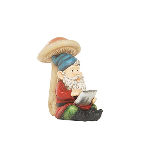 NORTHLIGHT AG36993 High Tech Gnome with Tablet Solar Powered LED Lighted Outdoor Patio Statue