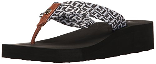 Tommy Hilfiger Women's Rlaran Flip-Flop, Black, 5 Medium US