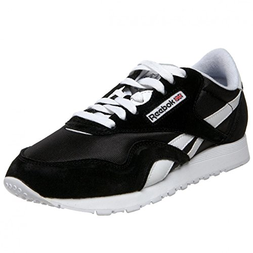 da Nylon bianco Classic nero Uomo Reebok Sneakers tfOq5w
