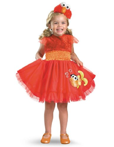 Frilly Elmo Costume (12-18 months) (Elmo Girl Party Supplies)