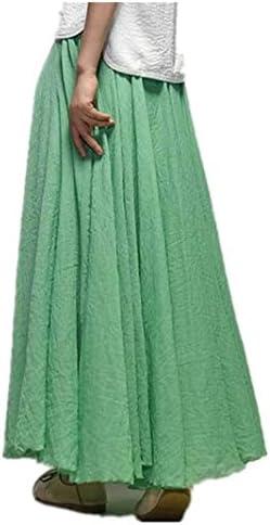 Jellbaby - Falda de algodón y Lino de Estilo étnico con Faldas y Faldas de Color sólido, Matcha Green, 85 cm: Amazon.es: Hogar