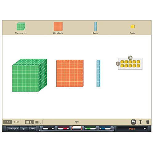 Differentiated Base Ten Blocks, Class Set of 488, Includes 4 Base Ten Place Value Mats by hand2mind (Image #6)