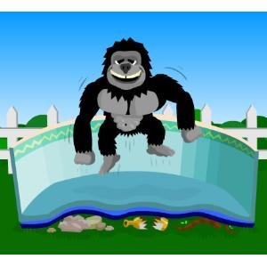 Gorilla Floor Padding for 28ft Round Above Ground Swimming Pools by Blue Wave