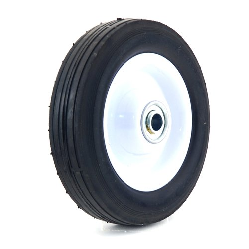 Arnold 6-Inch Steel Wheel with Ribbed Tread - 50lb. Load-Rating ()
