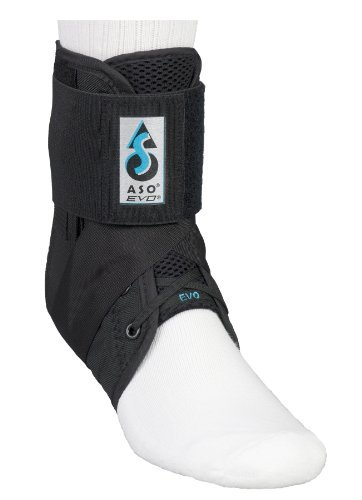 ASO EVO Ankle Stabilizer Brace (Small - Black) by Medspec/ASO Braces by Medspec/ASO Braces