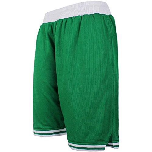 Zetti Mens Jersey Pants Soft Basketball Gym Fitness Shorts - Green - 7XL Size