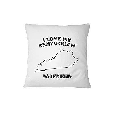 I Love My Kentuckian Boyfriend Kentucky Sofa Bed Home Decor Pillow Cover