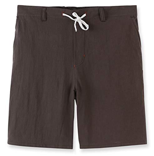 (Estepoba Men's Linen Cotton Casual Classic Fit Drawstring Walk Short Army Green XXL)