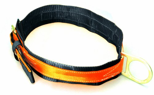Miller Titan by Honeywell T3310/MAF Tongue Buckle Body Belt with Single D-Ring and 3-Inch Back Pad, Medium ()