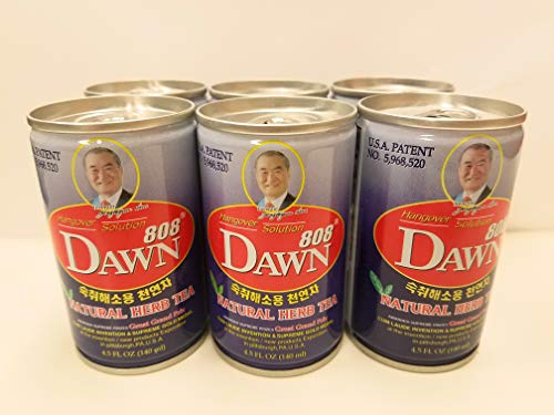 Dawn808 Hangover Solution | Relieves Hangovers | Quickly Breaks Down Alcohol | Detoxifying Herbal Tea | 100% Natural Ingredients | Can be Taken Before, During, or After Drinking | 6 Count (Best Tea For Hangover)