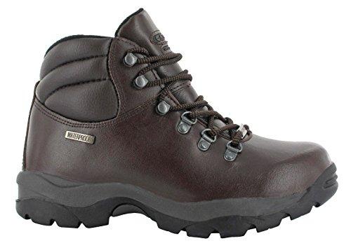 Hi-Tec Eurotrek 034da uomo e da donna Stivali in pelle impermeabile scarpe da corsa escursionisti, Brown, 10