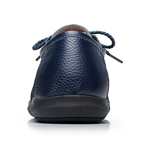 Men's Blue Comfortable Mesh Walking Dark Patchwork Leather Lace XiaoYouYu Up Shoes 6Uwq7d6