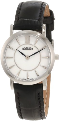 Roamer of Switzerland Women's 934857 41 85 09 Limelight 28mm Mother-Of-Pearl Dial Black Leather Watch