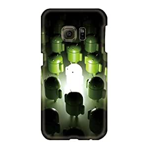 Samsung Galaxy S6 YBg1775jjxO Allow Personal Design HD Android Logo 3d Pictures Shock Absorption Hard Cell-phone Case -case88zeng