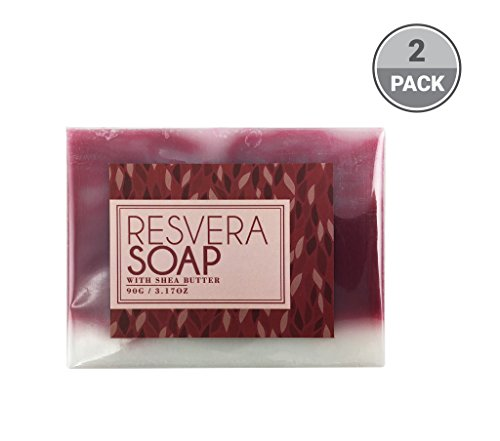 BeautyFrizz Resveratrol Wine Soap Bar | Natural Soap, Moisturizing Body Soap, Hydrating Soap & Gentle Soap for Cleansing & Anti Aging| Bath Soap with Honey, Olive Oil, Shea Butter (2 Pack)