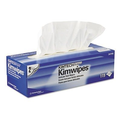 Kimtech Science Kimwipes Delicate Task Wipers - 2-Ply, 119 Wipes/Box (Lint Free Tissue)