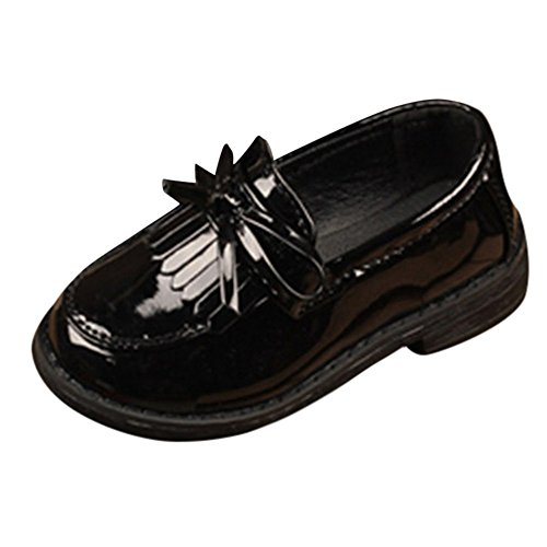 LIKESIDE Kid Girl Solid Bowknot Tassel Leather Formal Party Wedding Shoes by LIKESIDE_baby shoes