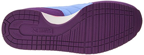 Puma Cabana Racer SL Jr - zapatilla deportiva de material sintético Niños^Niñas Violeta - Violett (grape juice-white-marina blue 35)
