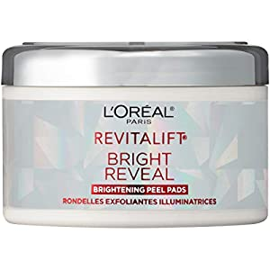 L'Oreal Paris Revitalift Bright Reveal Anti-Aging Peel Pads with Glycolic Acid Exfoliating Facial Pads to Reduce…