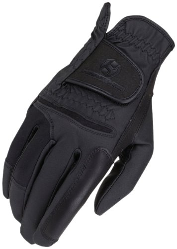 Heritage Pro.Comp Show Gloves, Size 7, (Black Comp Gloves)
