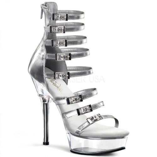 Pleaser Argent Shoes Allure Usa 647 Uq0wzHS