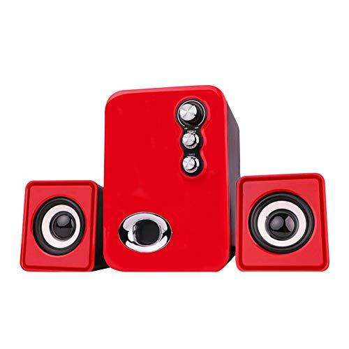 Price comparison product image Luerme 2.1 Speaker System Subwoofer Multimedia Mini Audio USB Computer Speaker Gift Set Great Sound Effect