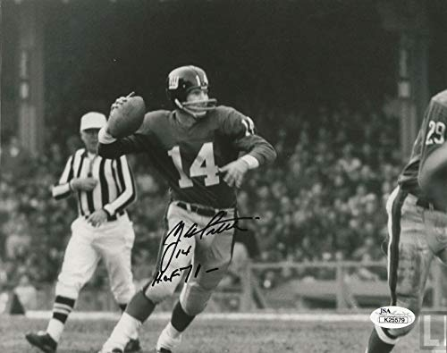 (Y.A. Tittle REAL hand SIGNED Photo #3 JSA COA NFL Football New York Giants)