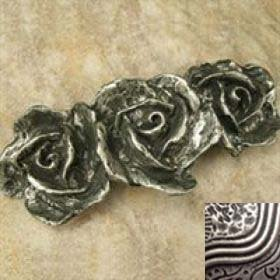 Anne at Home 118-1 Three Roses Pull in Pewter Matte