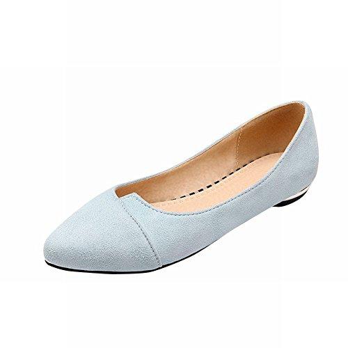Mostrar Los Zapatos De Piso Mocasines Casuales Shine Mujeres Fashion Light Blue